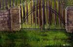 Tor, Wald, Baum, Malerei