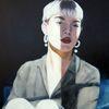 Licht, Portrait, Mädchen, Malerei