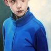 Portrait, Kind, Junge, Malerei