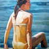 Strand, Licht, Sommer, Malerei