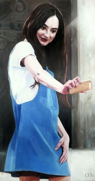 Selfie, Teenager, Portrait, Malerei