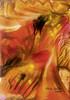 Flammen, Feuer, Malerei, Abstrakt