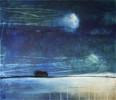 Abstrakt, Blau, Nacht, Landschaft
