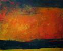 Acrylmalerei, Malerei, Wetteraussicht, Orange
