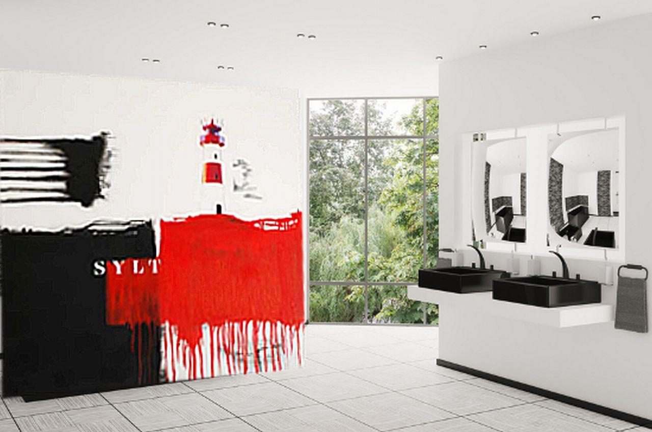 Wohnraumdesign  Bild: Gemälde, Wohnung, Wohnraumdesign, Leuchtfeuer von Christa ...