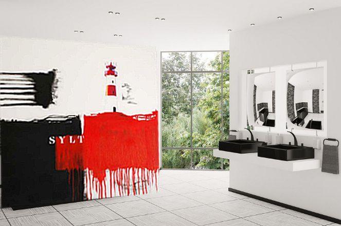 kunst wohnen ostfeuer sylt wohnung sylt wohnraumdesign abstrakt von christa hartmann. Black Bedroom Furniture Sets. Home Design Ideas