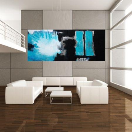 Wohnraumdesign  Bild: Kunstwohnen, Gemälde, Türkis, Wohnraumdesign von Christa ...