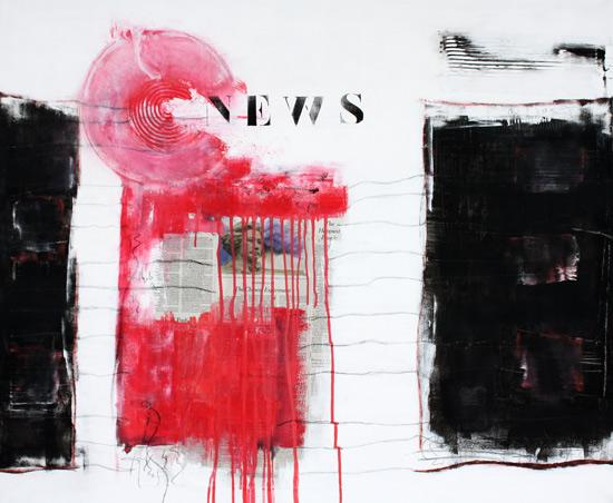 Modern, Design, Abstrakt, Gemälde, Malerei, News