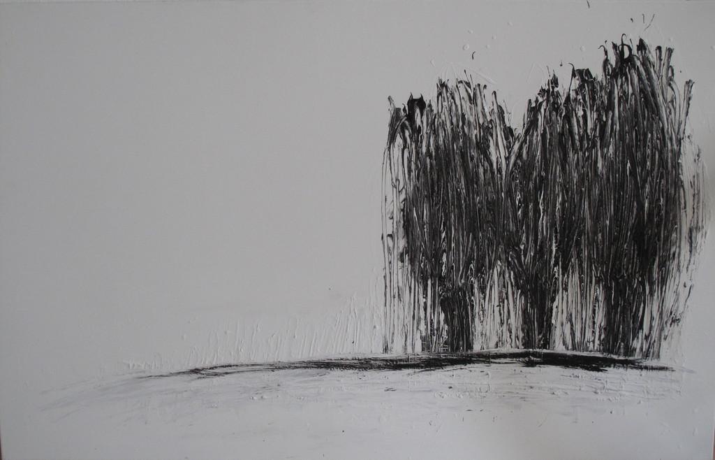 drei b ume natur abstrakt schwarz wei landschaft von a b strakt bei kunstnet. Black Bedroom Furniture Sets. Home Design Ideas