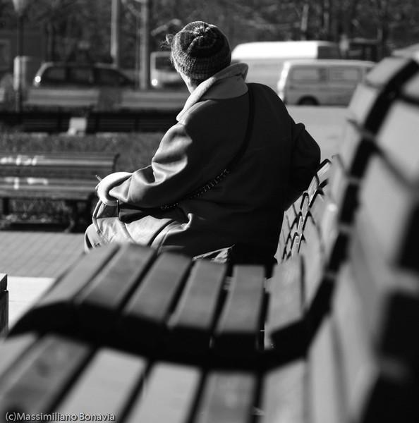 Geduld, Schwarzweiß, Portrait, Frau, Menschen, Fotografie