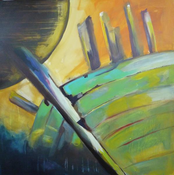 Malerei, Abstrakt, Wrack