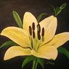 Lilie, Gelb, Blumen, Malerei