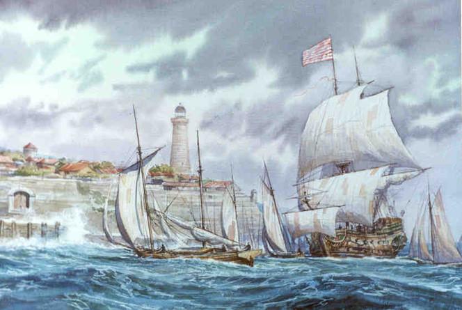 Schiff, See, Segel, Welle, Malerei, Wind