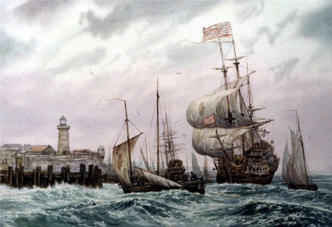 See, Wind, Schiff, Malerei, Meer