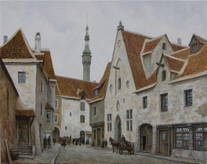 Reval, Straße, Tallinn, Malerei