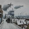 Steampunk, Luftschiff, Dampfschiff, Stadt