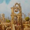 Landschaft, Stadt, Malerei