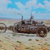 Steampunk, Dampfmustang, Malerei