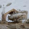 Steampubk, Luftschiff, Dampf, Malerei