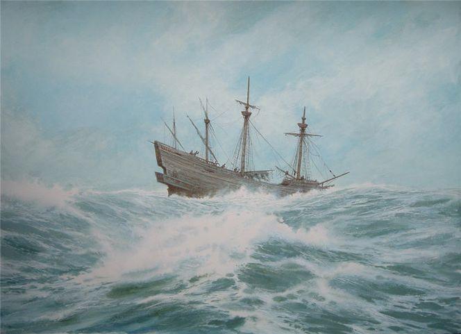 Schiff, See, Malerei,