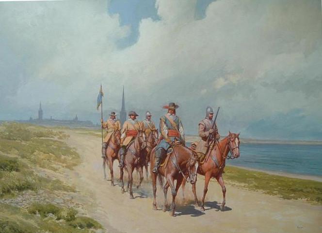 Reiter, Kavallerie, Malerei, Figural