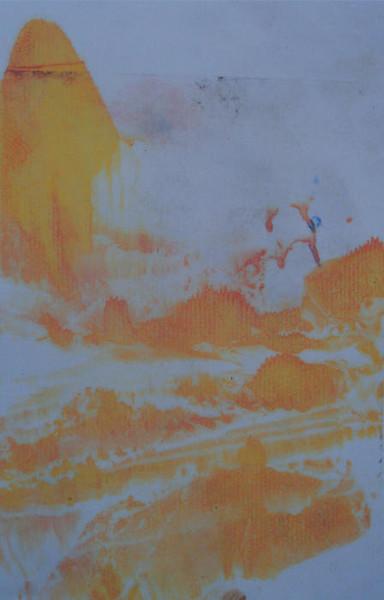 Ölmalerei, Landschaft, Druck, Monotypie, Malerei,