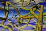Nebel, Wurzel, Digitale kunst, Surreal