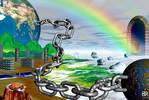 Kette, Regenbogen, Eis, Digitale kunst