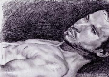 Zeichnung, Mann, Bleistiftzeichnung, Portrait, Zeichnungen