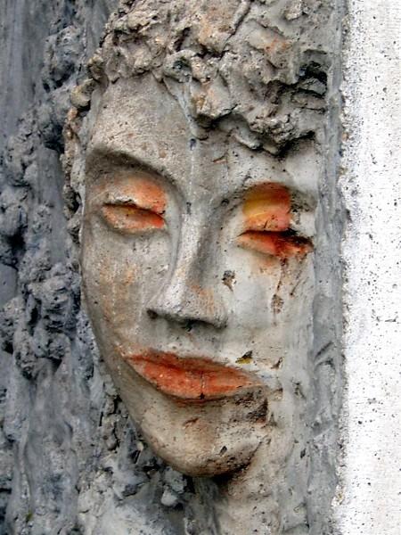 Gesicht, Mauer, Beton, Fotografie, Portrait