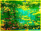 Zufall, Grün, Gelb, Wand
