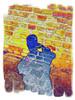 Mauer, Selbstportrait, Bunt, Portrait