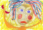Gesicht, Haare, Bunt, Digitale kunst