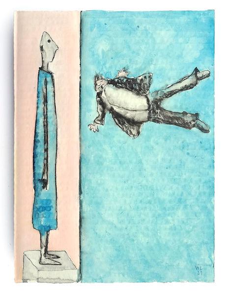 Giacometti, Fliegen, Souverän, Zeichnungen