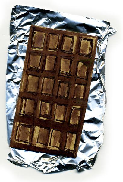 Merci, Schokolade, Kalorienfrei, Lecker, Zeichnungen