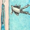Souverän, Giacometti, Fliegen, Zeichnungen