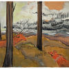 Berge, Hirsch, Fuchs, Malerei
