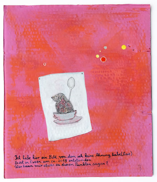 Punkt, Orientierungslosigkeit, Intuition, Anfrage, Malerei