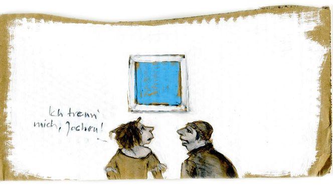 Himmel, Trennung, Zeichnungen, Trotz
