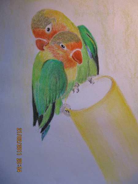 Kunstnet werke zeichnungen tiere die unzertrenlichen