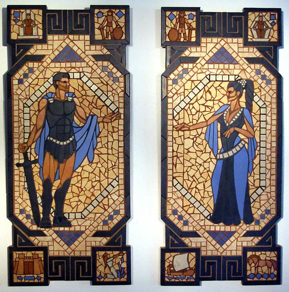 Ilias, Mosaik, Homers, Troja, Kunsthandwerk, Kampf