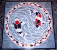 Mosaik, Fliesenmosaik, Koi, Mosaiktischplatte