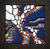 Mosaik, Fliesenmosaik, Perlmut, Hämatit