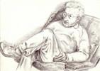 Zeichnungen, Portrait, Kritisch