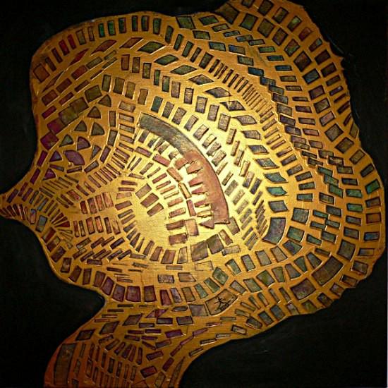 Kunstnet werke malerei abstrakt goldene seele i
