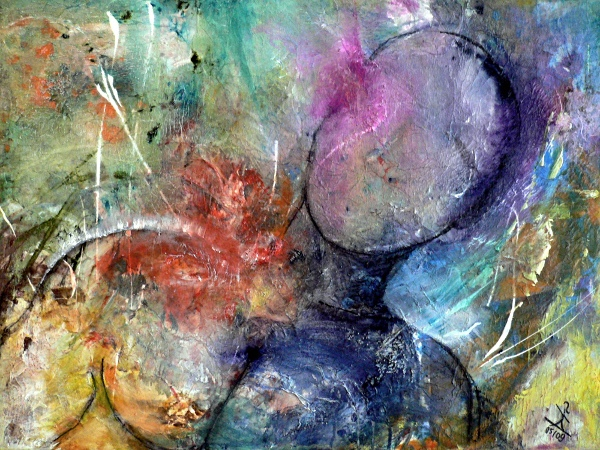 Mann, Acrylmalerei, Mythos, Mars, Bunt, Farben
