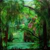 Stille - bäume gegenlicht grün holzhaus lambarene landschaft licht magie natur see stille wald wasser wildnis