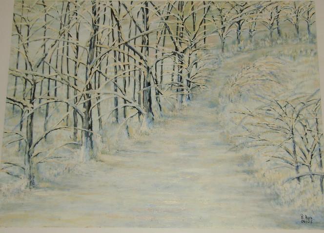 Kälte, Winterschlaf, Ölmalerei, Winter, Malerei, Jahreszeiten