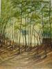 Weide, Pherde, Waldstimmung, Ölmalerei