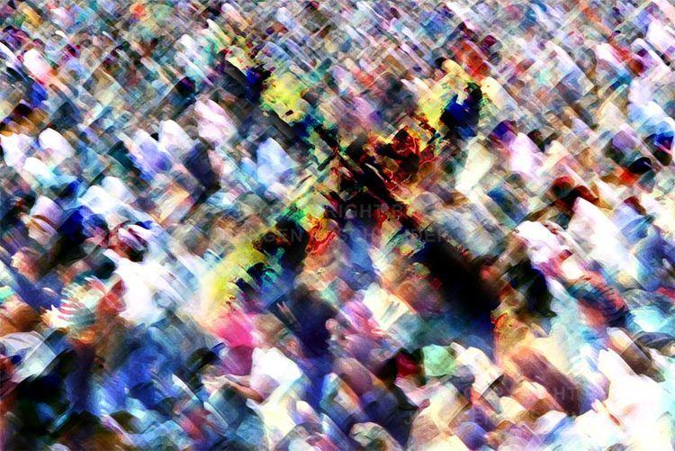 Menschen, Menge, Kreuz, Fotografie